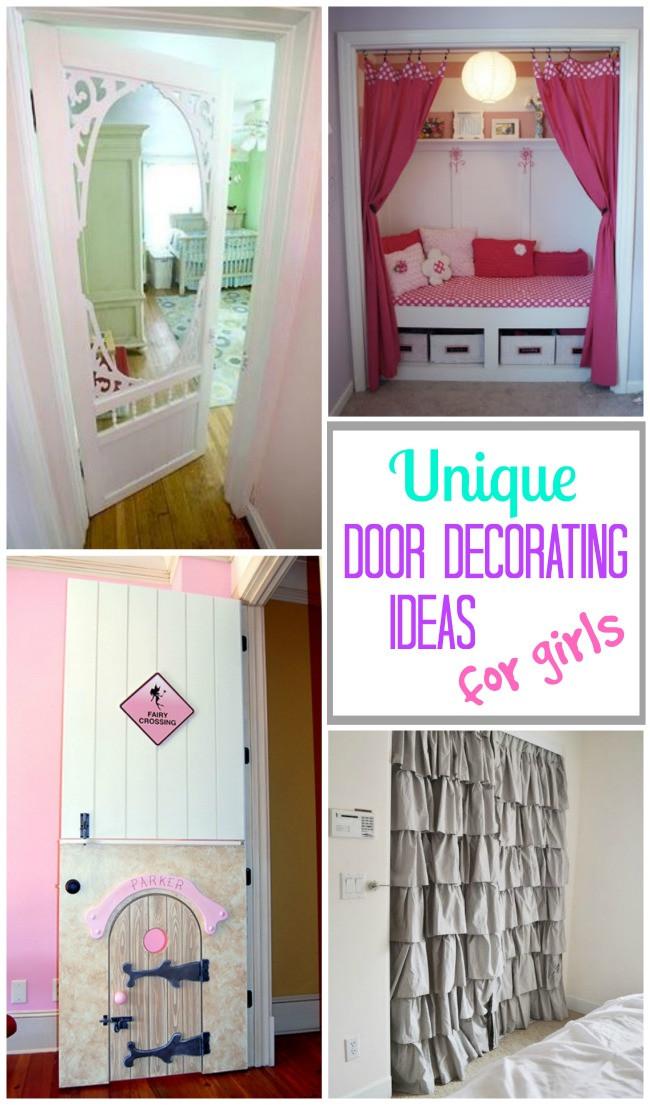 Decor Ideas for Girl Bedroom Creative Bedroom Door Decoration Ideas for Girls