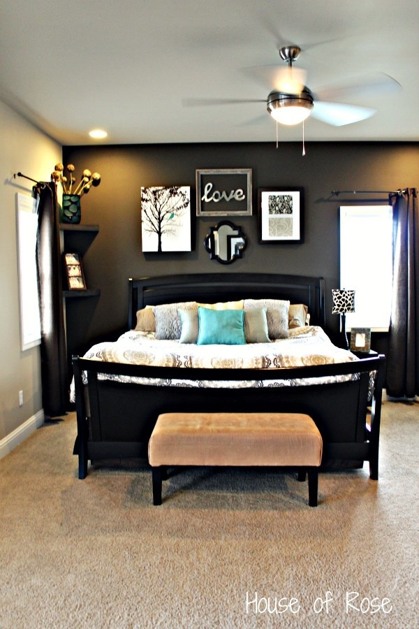 Decor Ideas for Master Bedrooms Master Bedroom Wall Makeover