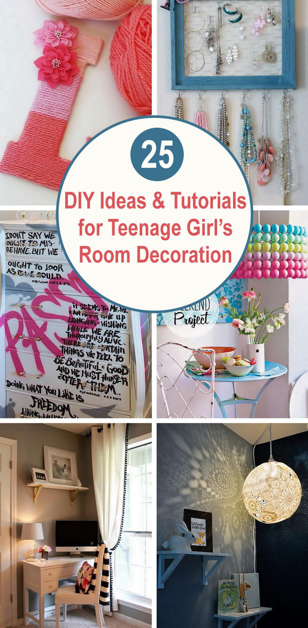 Diy Bedroom Decor for Teens 25 Diy Ideas & Tutorials for Teenage Girl S Room Decoration
