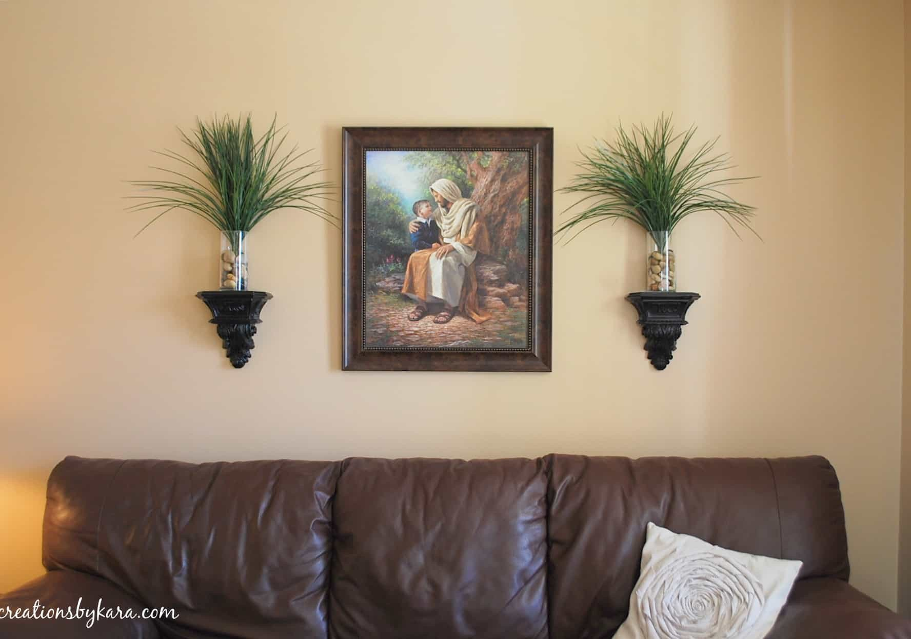 Diy Living Room Wall Decor Hanging Wood Trim In My Living Room