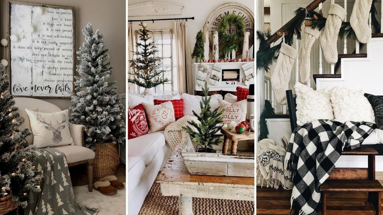 Diy Rustic Living Room Decor Diy Rustic Farmhouse Style Christmas Living Room Decor