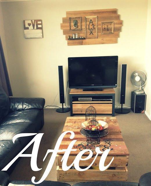Diy Rustic Living Room Decor Home Made Diy Modern Rustic Living Room Make Over