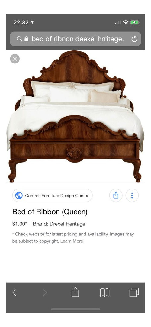 Drexel Heritage Bedroom Furniture Please Help Searching for the Drexel Heritage Bed Of Ribbon