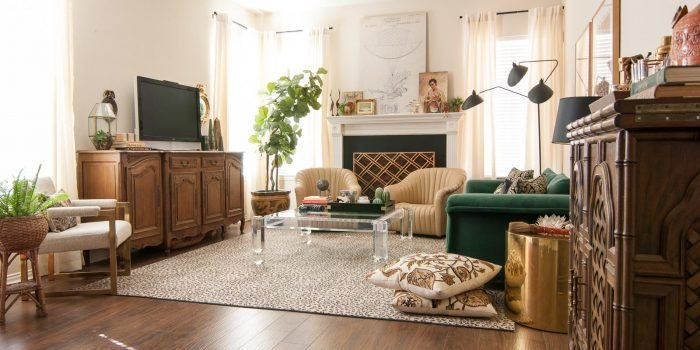 Eclectic Comfortable Living Room A Gathered Eclectic Living Room Reveal the Gathered Home