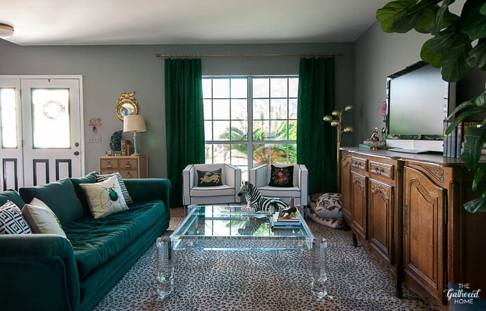 Eclectic Comfortable Living Room Eclectic Glam Living Room tour sources the Gathered Home