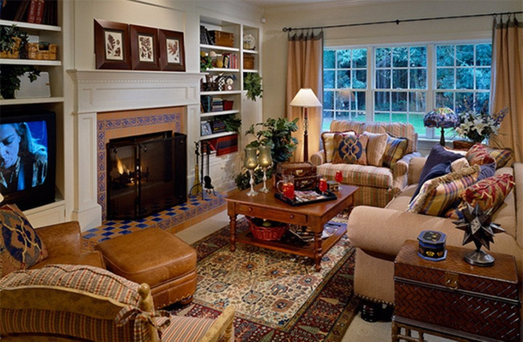 Eclectic Comfortable Living Room Eclectic Living Room Ideas with Country Furniture