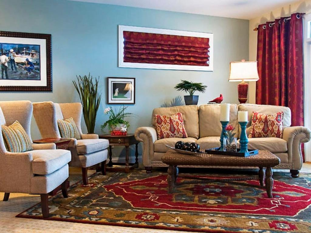 Eclectic Comfortable Living Room Ideas to Select the Right Family Room Colors Interior