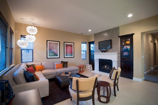 Eclectic Comfortable Living Room Mid Century Modern Eclectic Clean fortable Chic