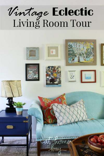 Eclectic Comfortable Living Room Our Vintage Eclectic Living Room tour