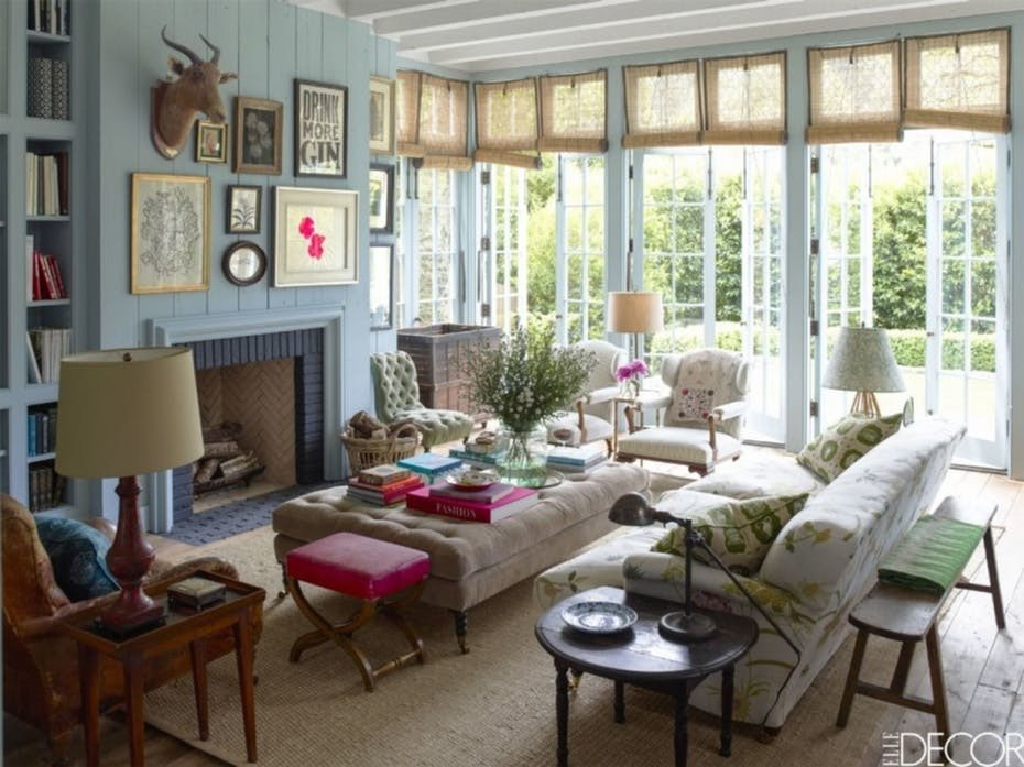 Eclectic Comfortable Living Room Sunny Family Room with fortable Seating by Rita Konig