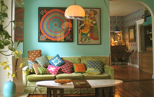 Eclectic Comfortable Living Room Vintage Farmhouse Vintage Eclectic Style