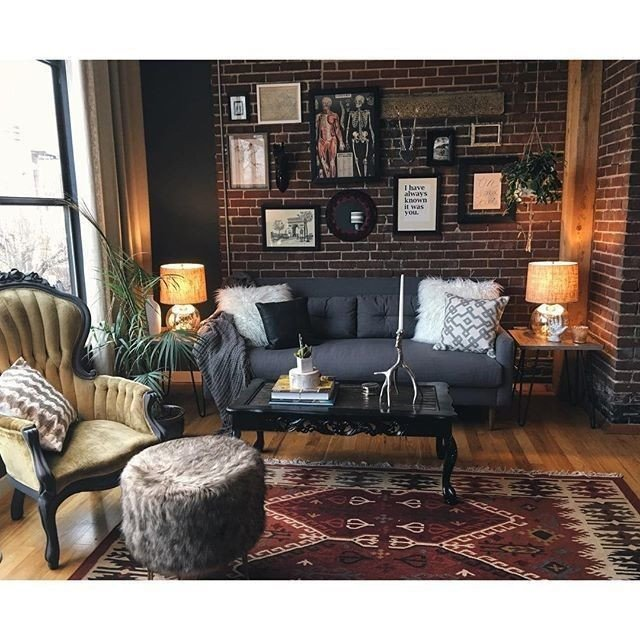 Eclectic Comfortable Living Room West Elm Crosby Mid Century sofa 80 Decor