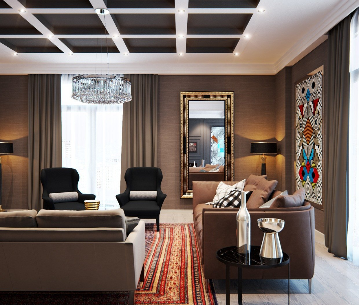 Elegant Contemporary Living Room A Modern Interior Home Design which Bining A Classic