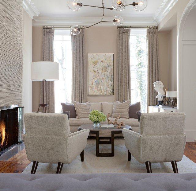 Elegant Contemporary Living Room Brooklyn Brownstone Contemporary Living Room New