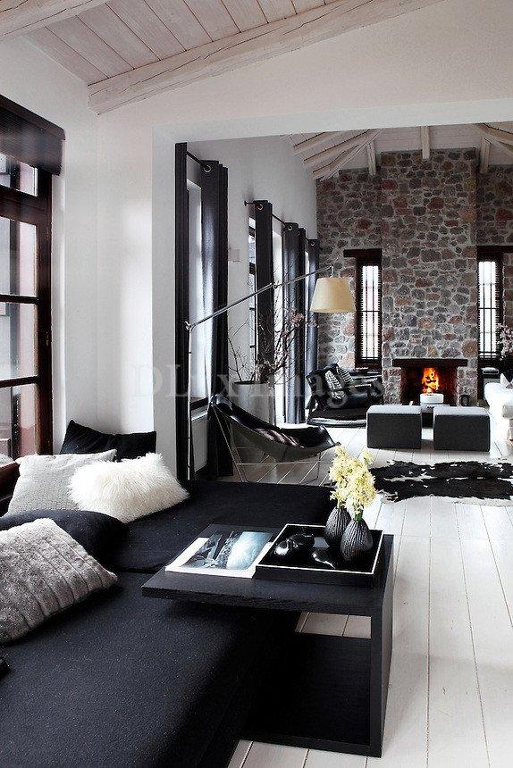 Elegant Contemporary Living Room House Of Karavas Arahova Greece Dlux