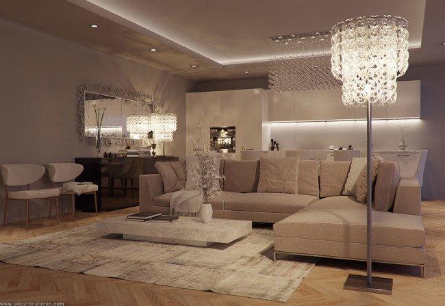 Elegant Contemporary Living Room Luxurious and Elegant Living Room Design Classics Meets