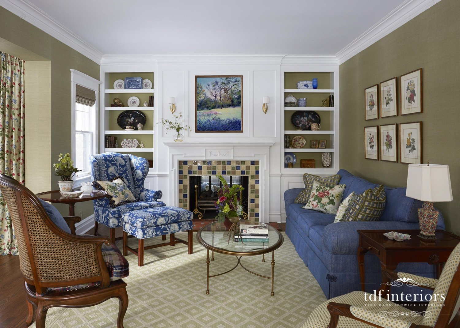 English Traditional Living Room Elegant Design by Tina Dann Fenwick Interiors Classic and