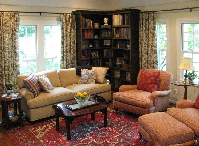 English Traditional Living Room English Cottage with French Country Furnishings
