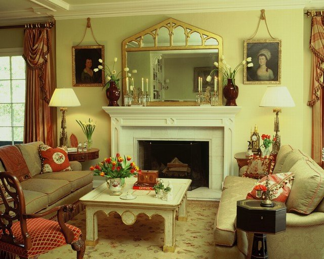 English Traditional Living Room English Style Estate Traditional Living Room Los