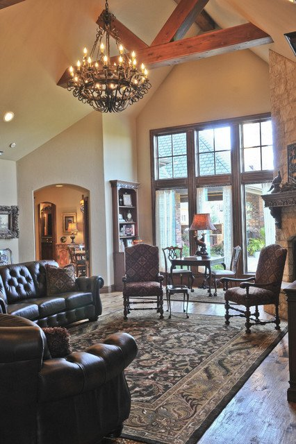 English Traditional Living Room English Tudor Traditional Living Room Oklahoma City