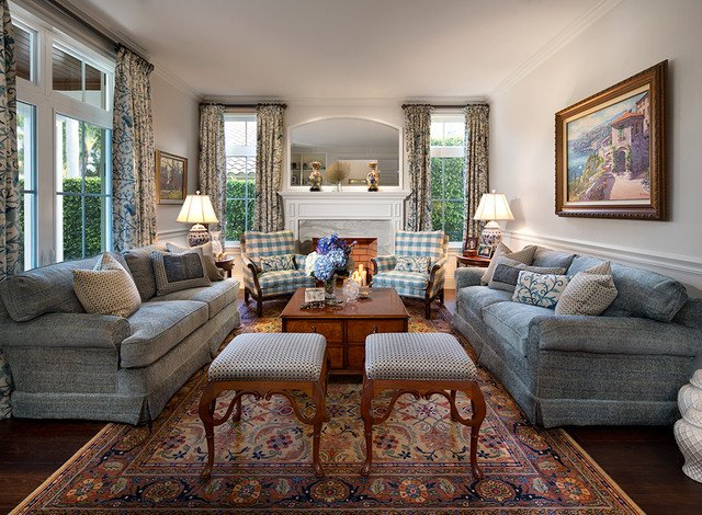 English Traditional Living Room Private Residence In British Colonial Style Traditional