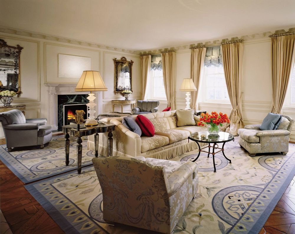 English Traditional Living Room Traditional Living Room by Geoffrey Bradfield Inc by
