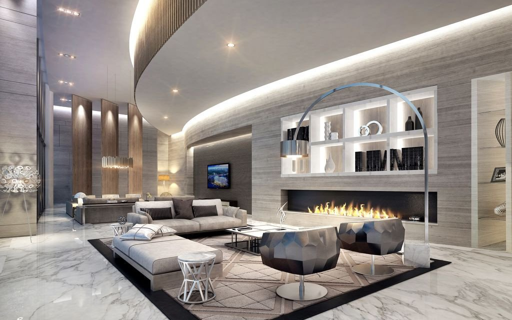 Extra Modern Living Room Decorating Ideas Modern Living Room with Plex Marble Tile Floors