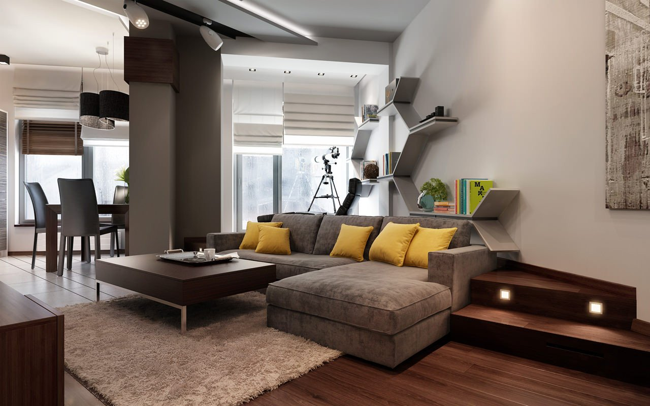 Extra Modern Living Room Decorating Ideas Three Apartments with Extra Special Lighting Schemes