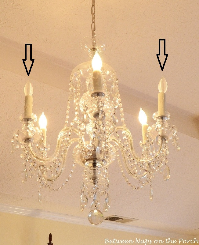 Fake Chandelier for Bedroom Resin Candle Covers and Silk Wrapped Bulbs for the Bedroom