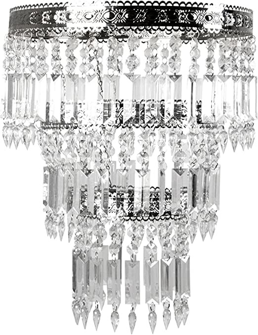 Fake Chandelier for Bedroom Tadpoles Faux Crystal & Chrome Queen S Crown Shade Chandelier Style