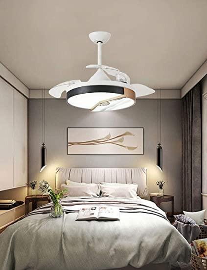 Fan Size for Bedroom Fan Chandelier New Chinese Invisible Ceiling Fan Light