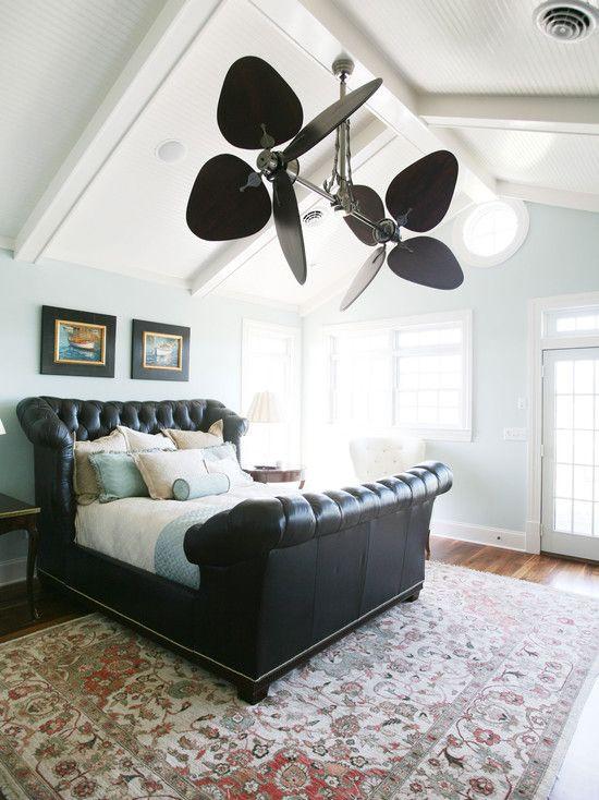 Fan Size for Bedroom Traditional Bedroom Sloped Ceiling Design Remodel