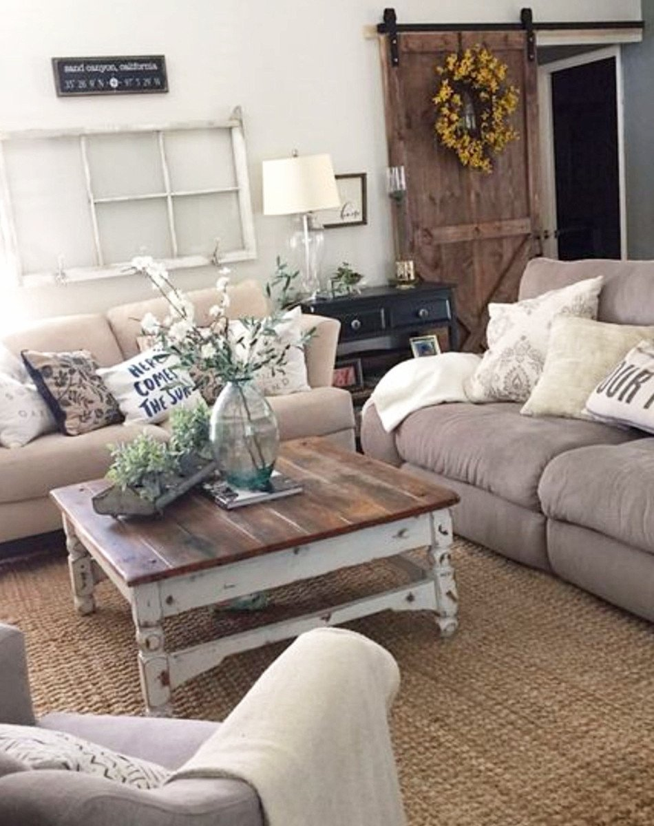 Farmhouse Contemporary Living Room Farmhouse Living Rooms • Modern Farmhouse Living Room
