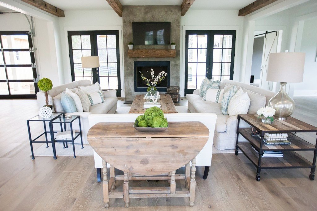 Farmhouse Contemporary Living Room Modern Farmhouse Living Room Ideas