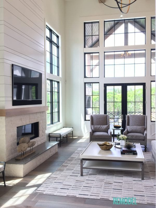 Farmhouse Contemporary Living Room Remodelaholic