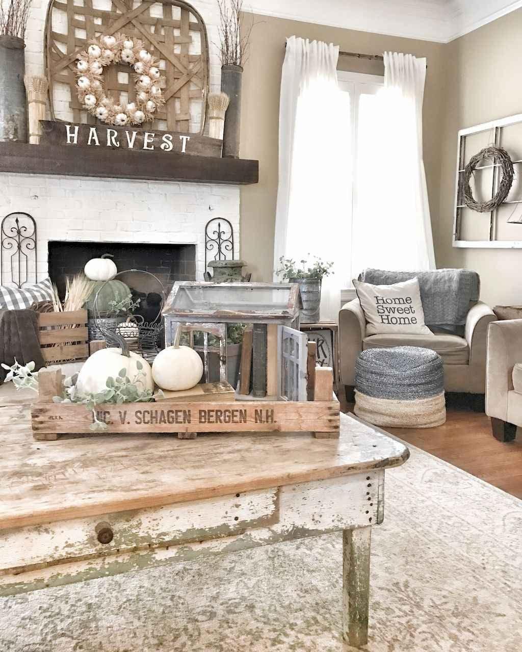 60 rustic farmhouse living room design decor ideas