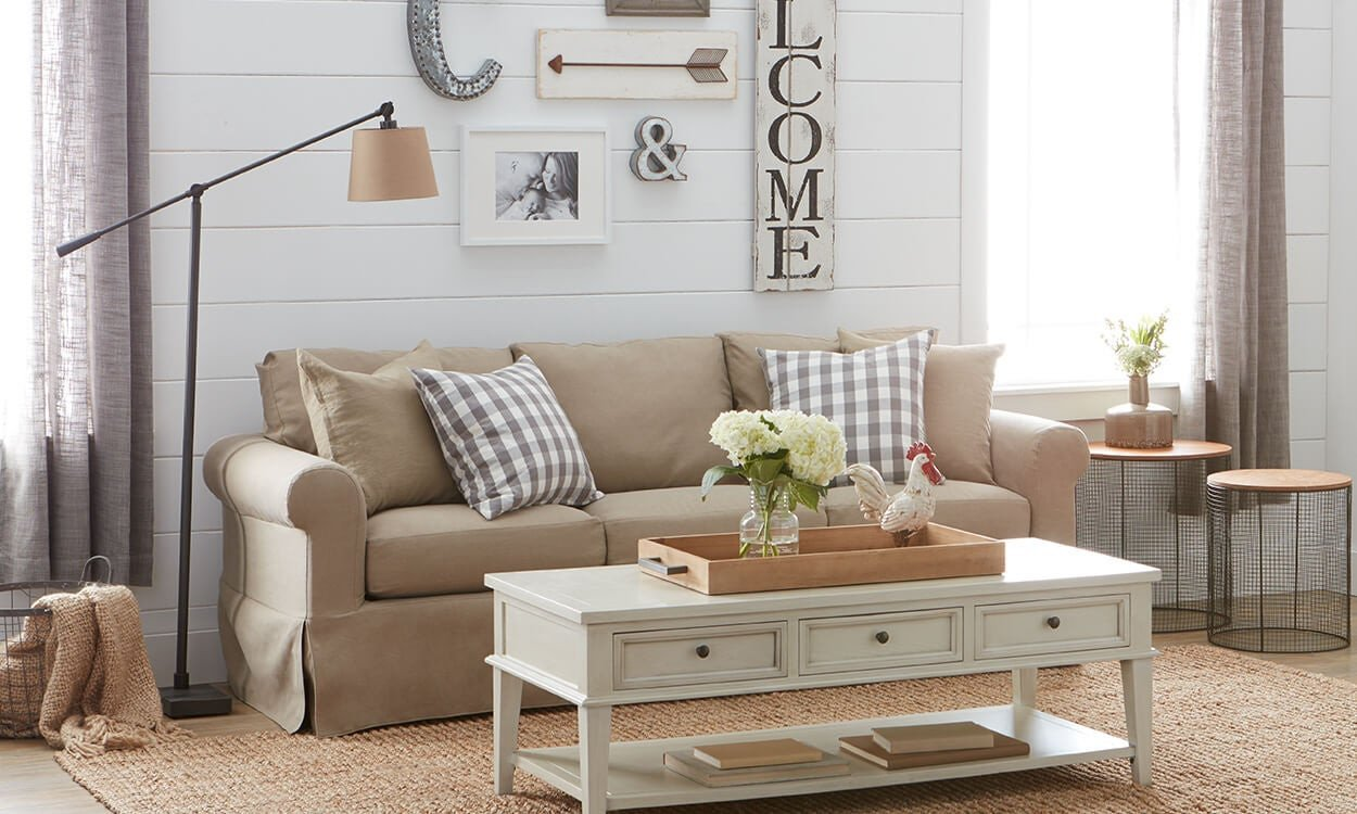 Farmhouse Living Room Curtains Decor Ideas Charming Farmhouse Decorating Ideas Overstock
