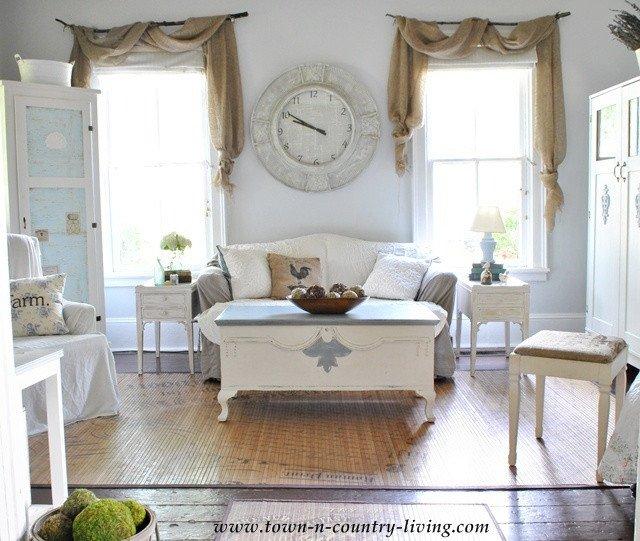Farmhouse Living Room Curtains Decor Ideas Diy Curtains – I Love This Rustic Farmhouse Window Idea