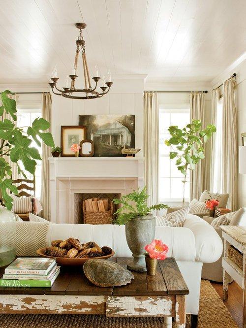 Farmhouse Living Room Curtains Decor Ideas Farmhouse Living Room Design Ideas Remodels & S