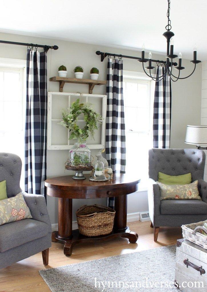 Farmhouse Living Room Curtains Decor Ideas Farmhouse Style Curtain Rods