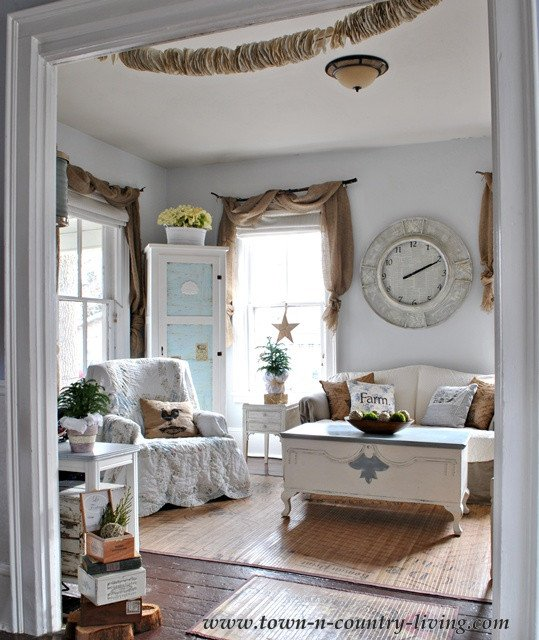 Farmhouse Living Room Curtains Decor Ideas Take A tour Of My Cottage Style Farmhouse
