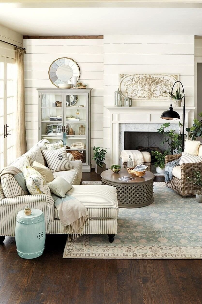 Farmhouse Living Room Decorating Ideas Neutral Farmhouse Living Room Decor Ideas In 2019