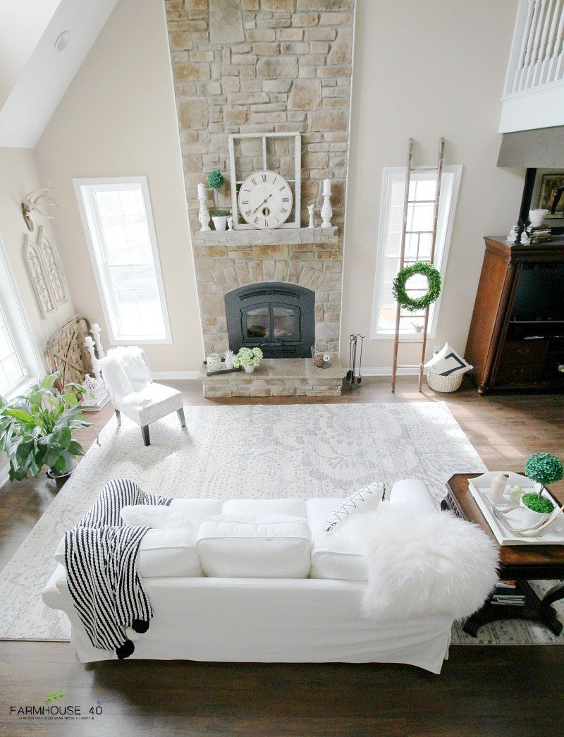 Farmhouse Living Room with Rug E Room 3 Rugs Vote for Your Favorite Farmhouse 40