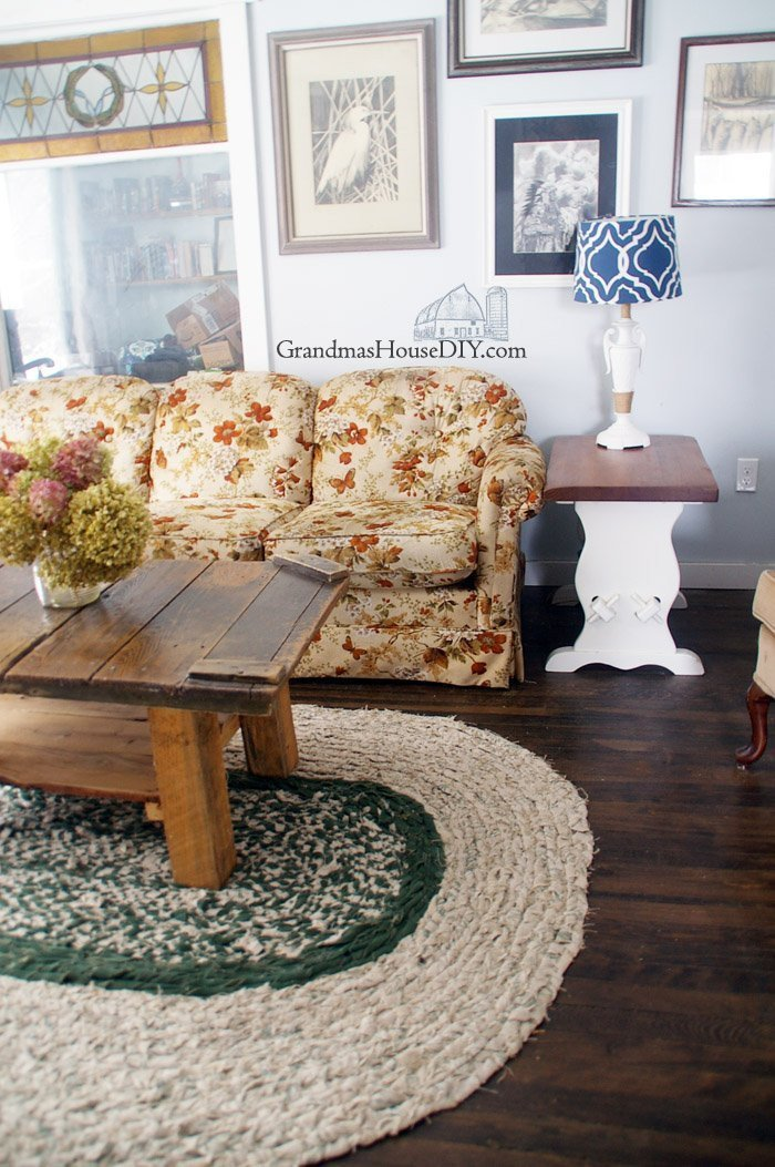 Farmhouse Living Room with Rug How to Braid Your Own Large Rag area Rug Grandmas