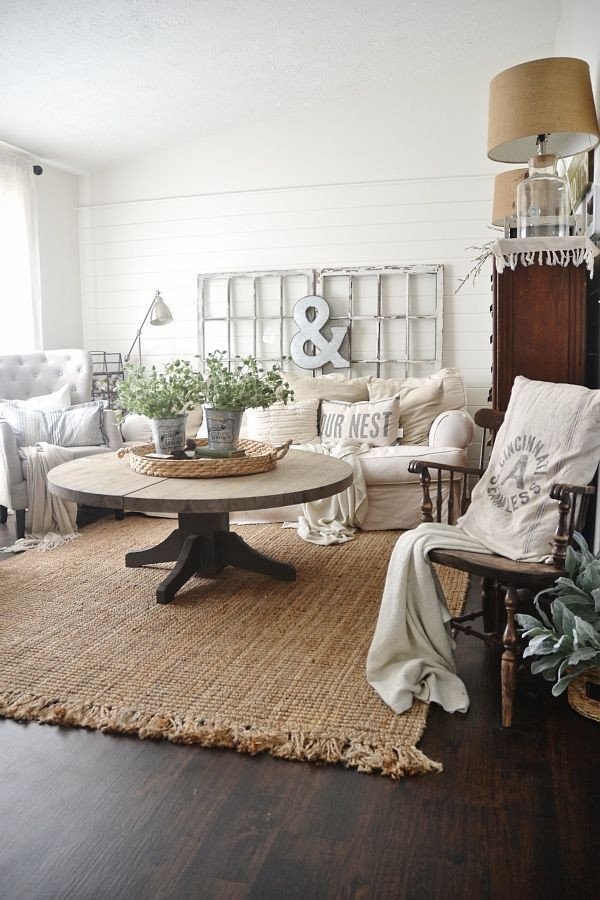 Farmhouse Living Room with Rug Jute Rug Review – An Honest Review after Three Years