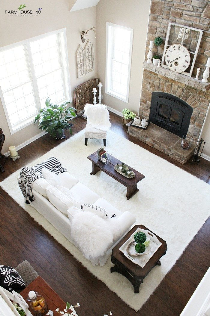 Farmhouse Living Room with Rug Rug Reveal Day is It Rug 1 2 or 3 Farmhouse 40