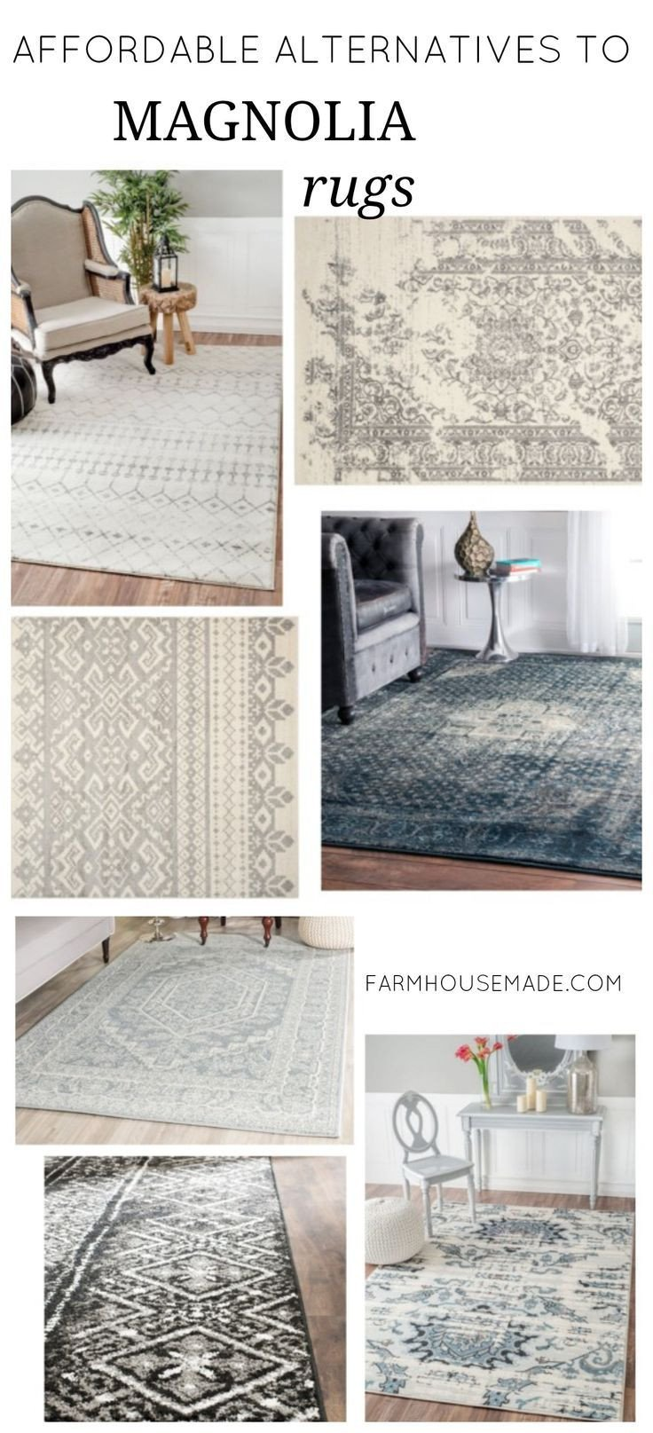 Farmhouse Living Room with Rug What to Do when You Can T Afford Joanna S Rugs