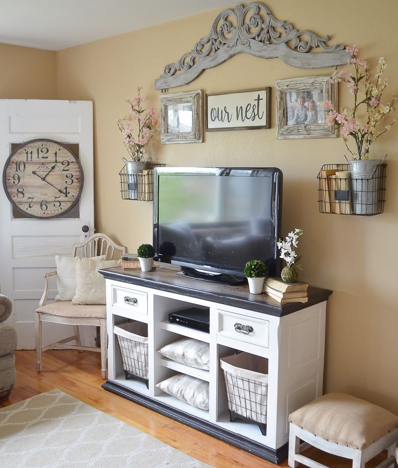 Farmhouse Tv Stand Design Ideas and Decor Easy Farmhouse Style Tv Stand Makeover