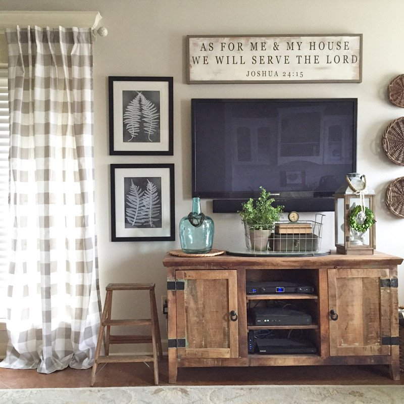 Farmhouse Tv Stand Design Ideas and Decor How to Create the Perfect Gallery Wall Our Vintage Nest
