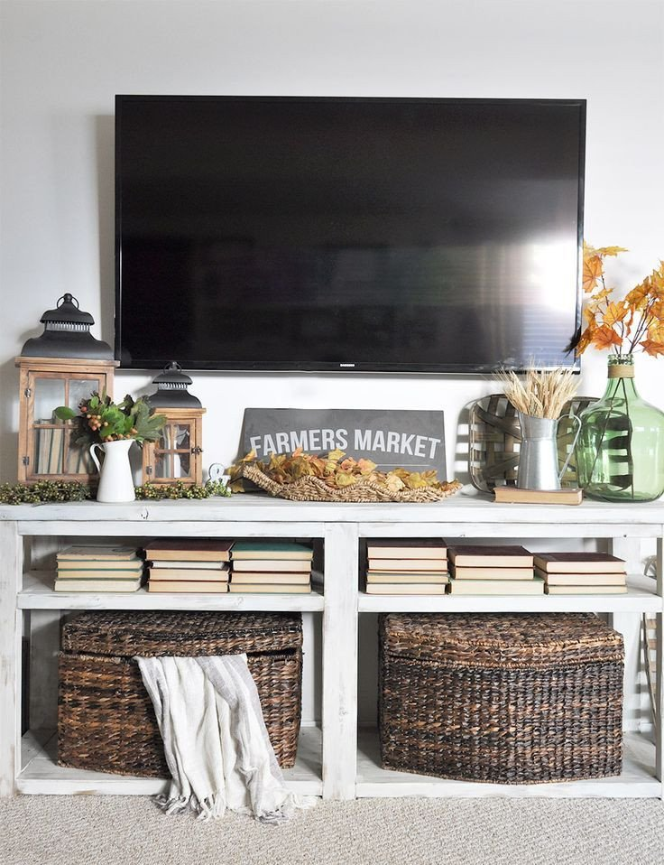 Farmhouse Tv Stand Design Ideas and Decor Image Result for Tv Console Fall Decor